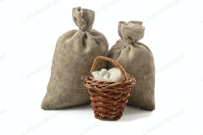 bag of coarse fabric