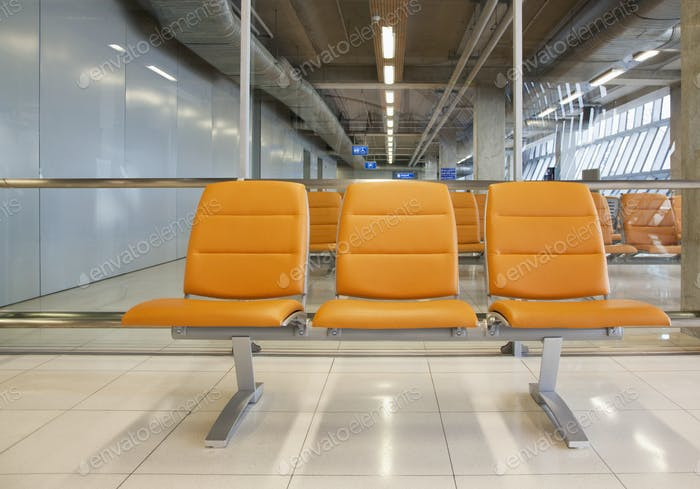 Sitzplätze am Flughafen
