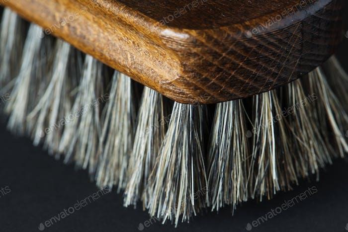 Closeup of shoe brush