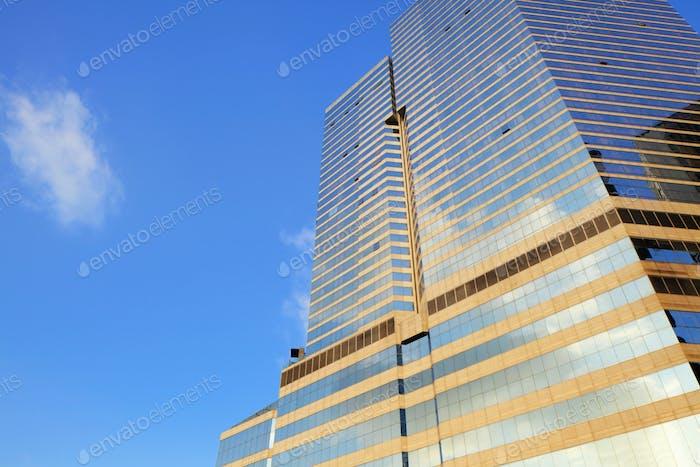 Glass building facade