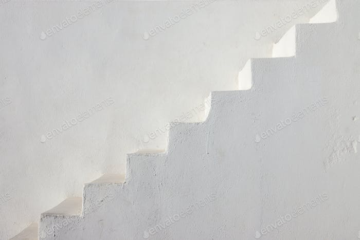 Clean white stairs