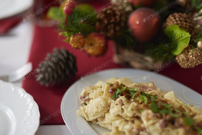 Traditional Polish dish decorated with onion and parsley