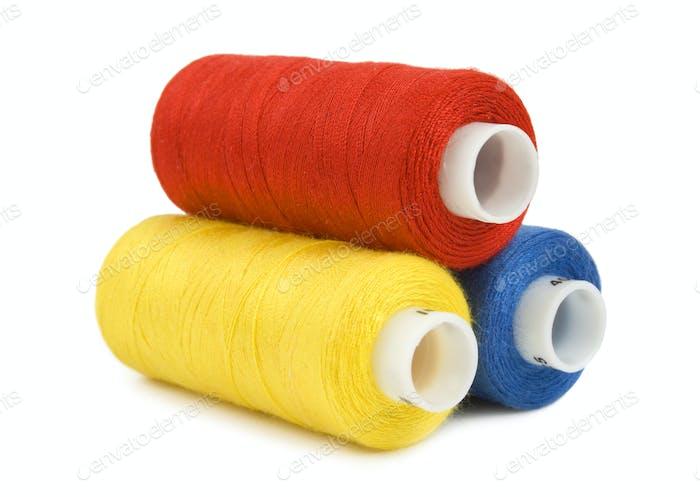 Thread spools isolated