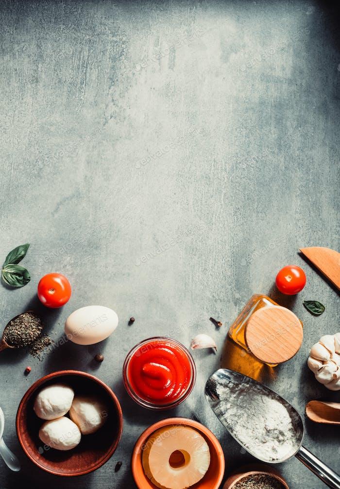 Essen Gewürz und Kräuter am Tisch am Tisch