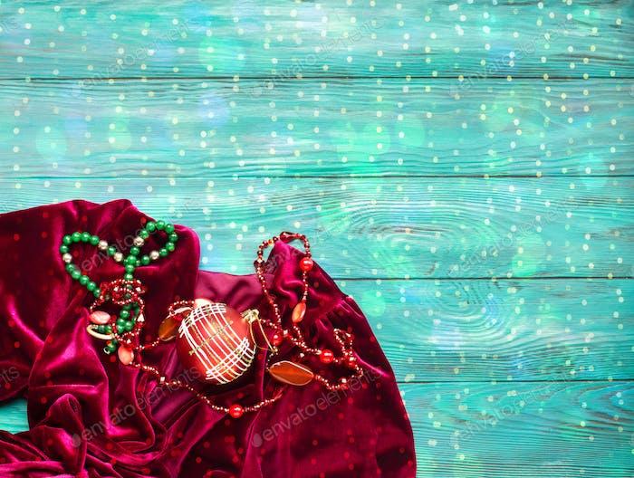 Red velvet dress for Christmas new year party