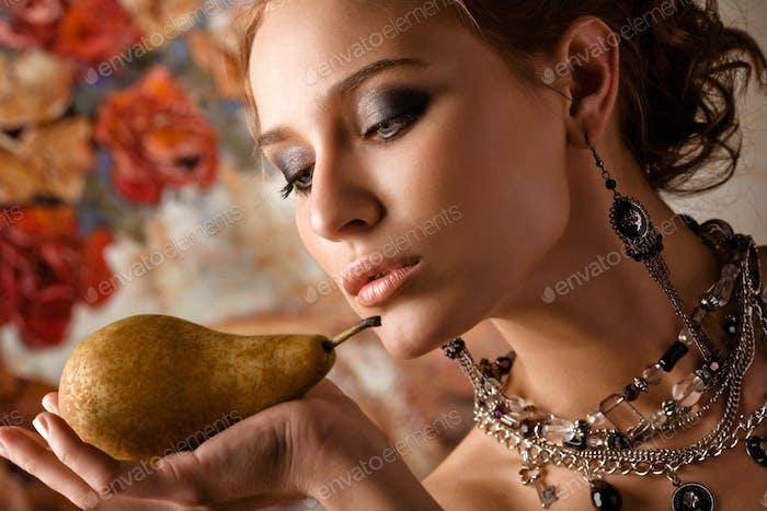 Juicy pear.