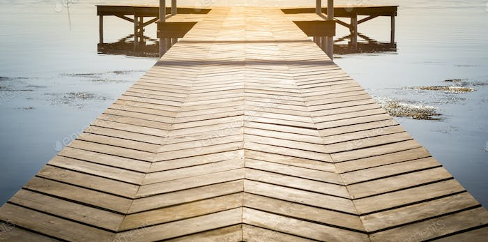 Wooden Dock With Copy Space