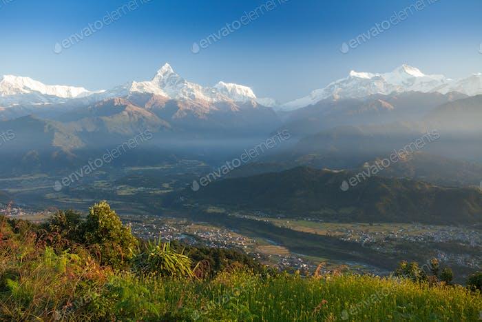 Machapuchare and Annapurna Range