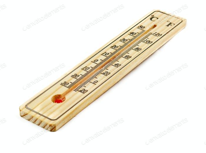 Nahaufnahme des Thermometers