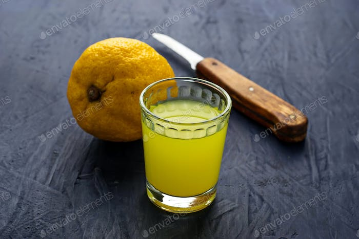 Limoncello, Italian liqueur with lemons
