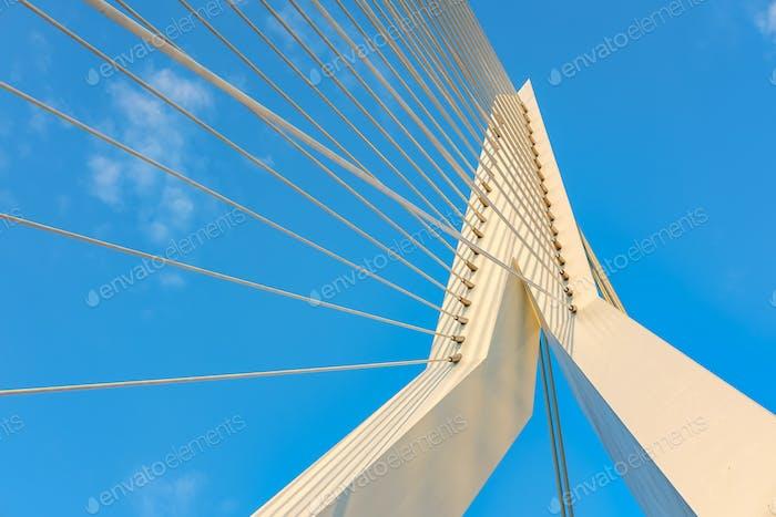 Erasmusbrücke in Rotterdam Stadt. Südholland, Niederlande.