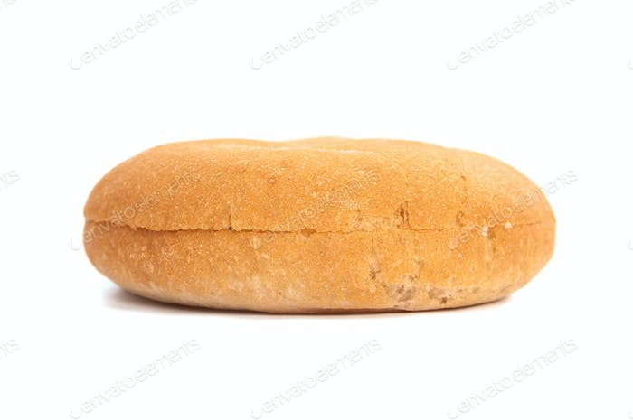 Burger bun on white background