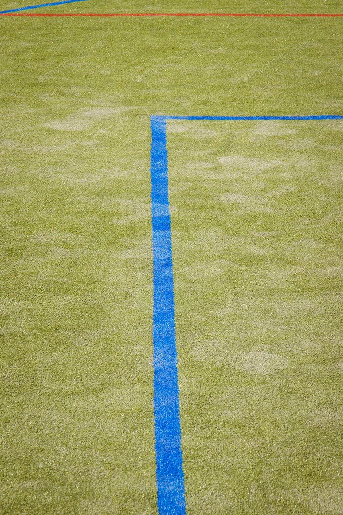 Basketball, football or handball lines on an outside court