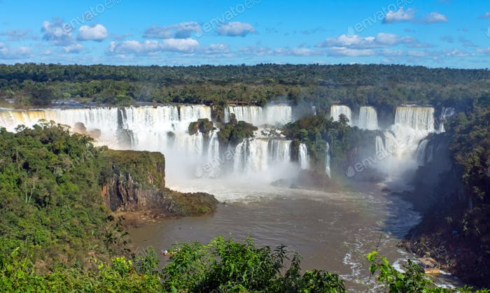 The Iguazu falls in Argentina