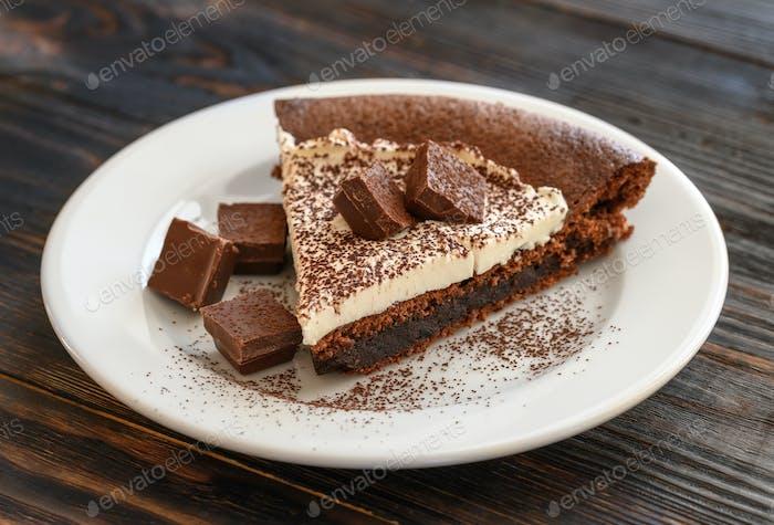 Chocolate pie with mascarpone