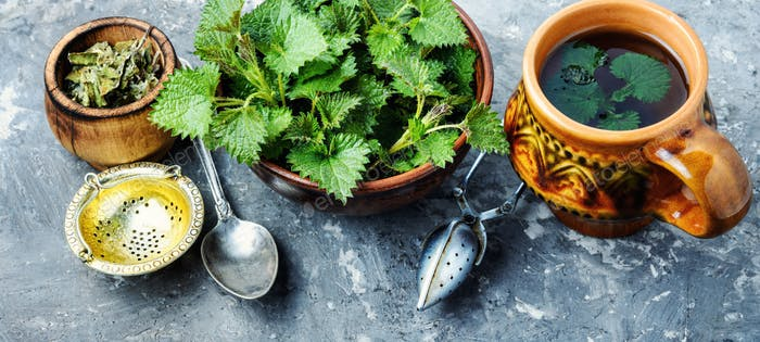 Tea with fresh nettles