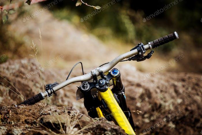 Handlebar of Sports Bicycle
