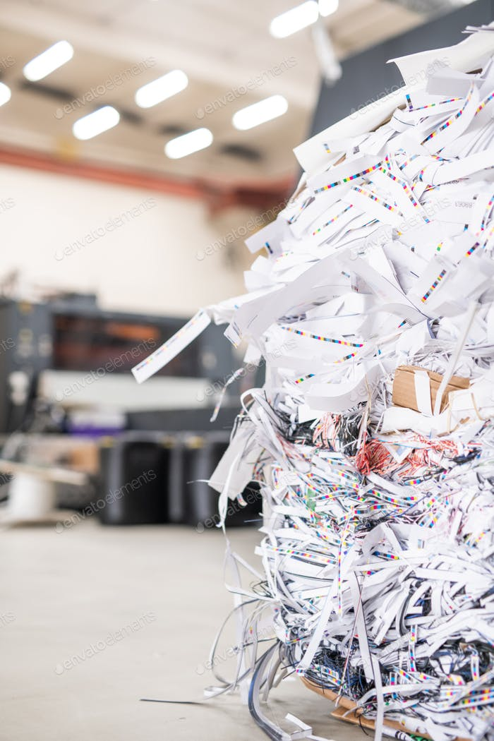 Heap of cut papers