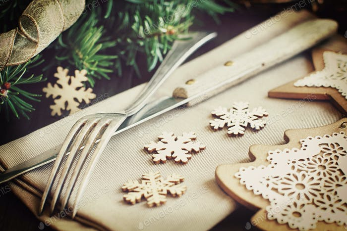 Retro Christmas Place Setting