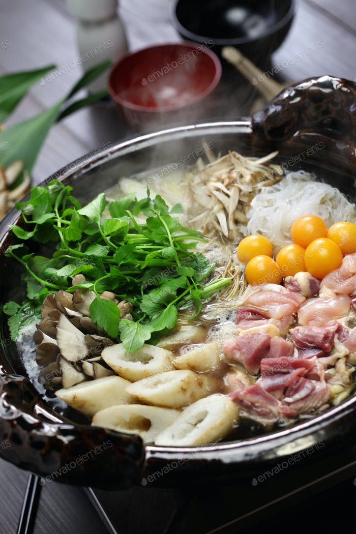 japanese chicken hot pot cuisine