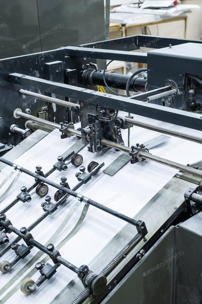 Process of printing at factory