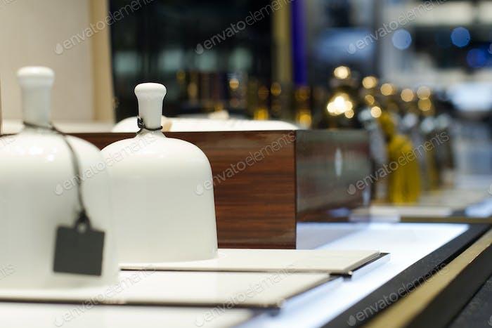 fragrance bells in perfume store