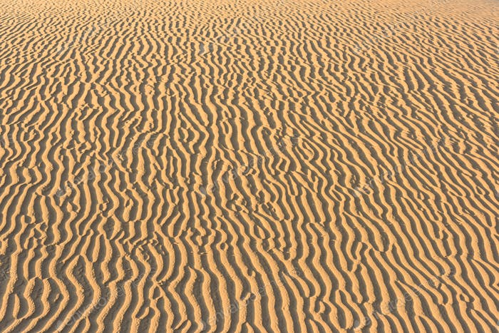 Pattern of golden sand in the desert