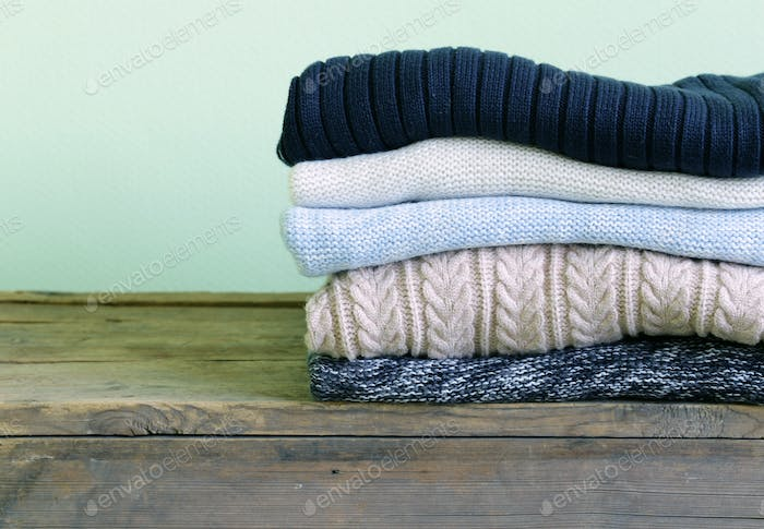 Warme Strickpullover