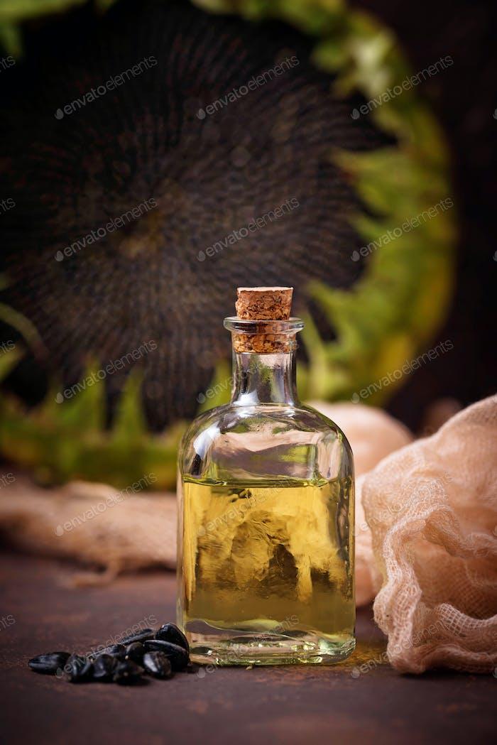 Sonnenblumenöl und Samen