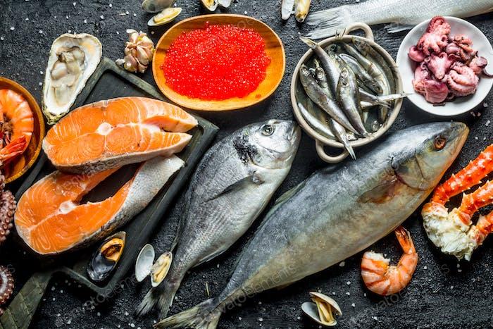 Fresh tasty fish.