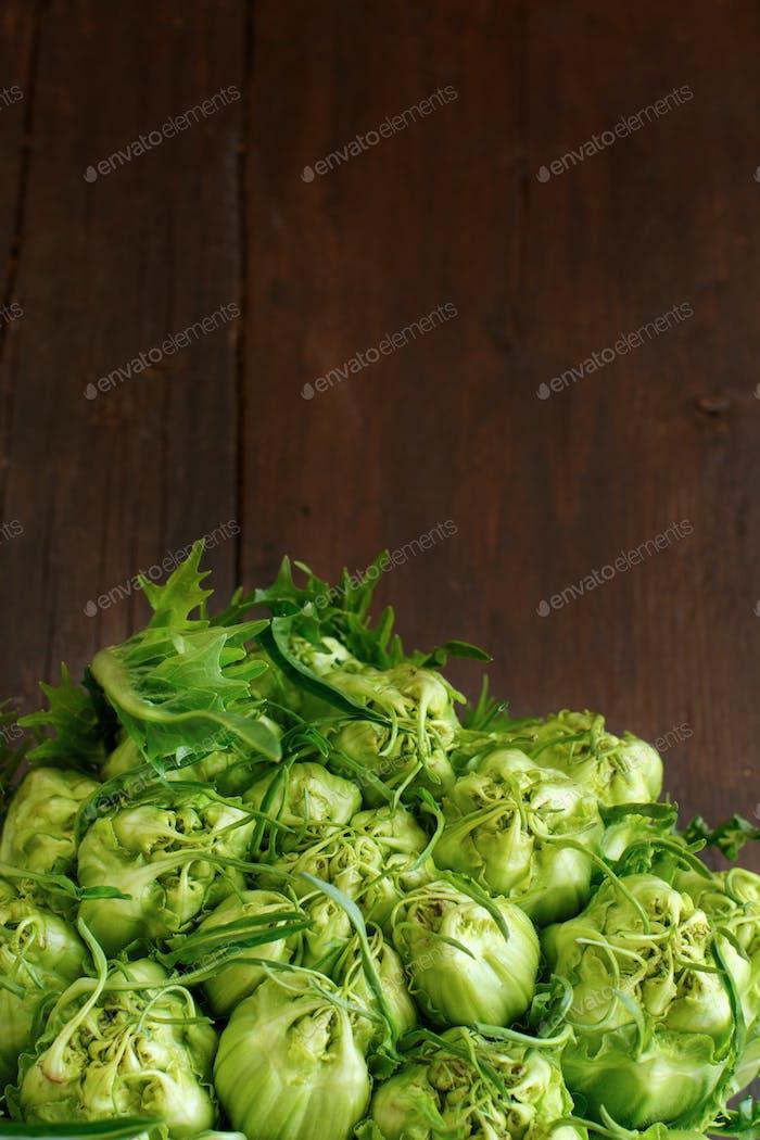 Fresh raw italain chicory