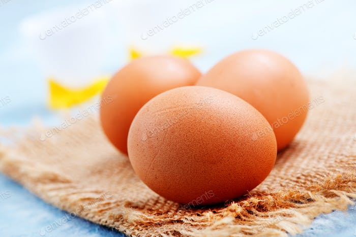 raw chicken eggs