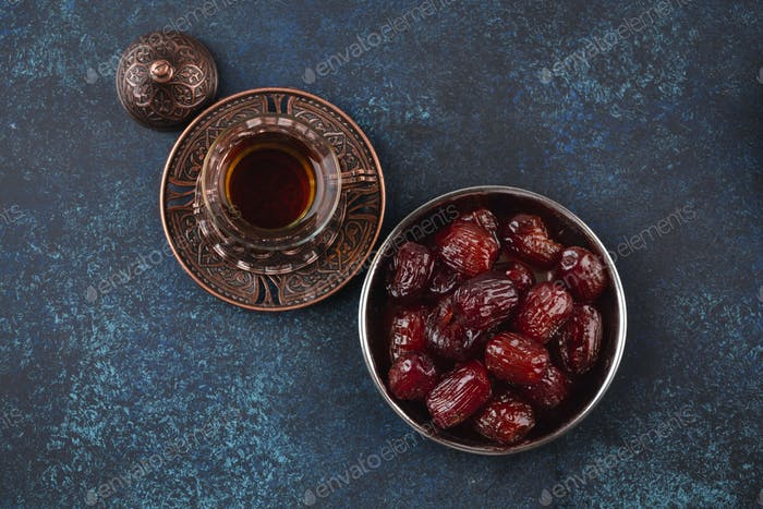 Arab tea with dates