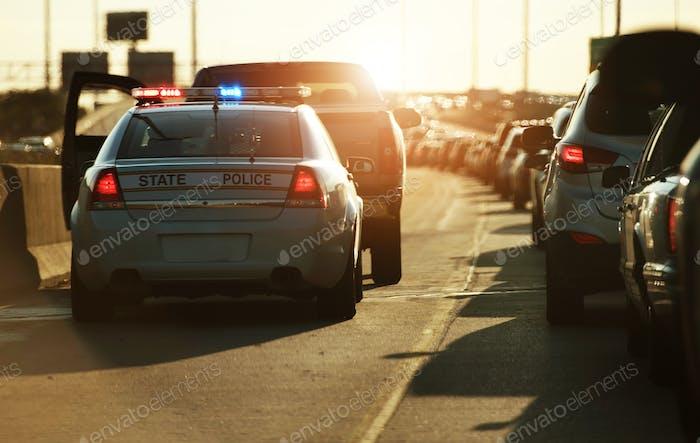 Parada de tráfico policial