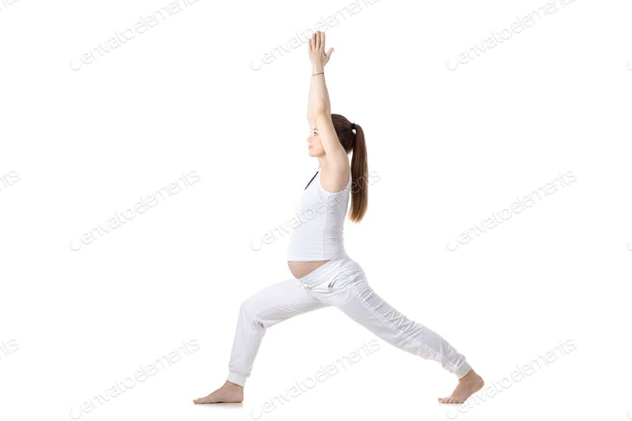 Prenatal Yoga, Warrior I pose