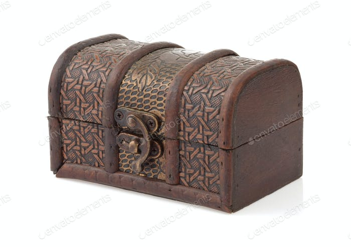 treasure chest on white