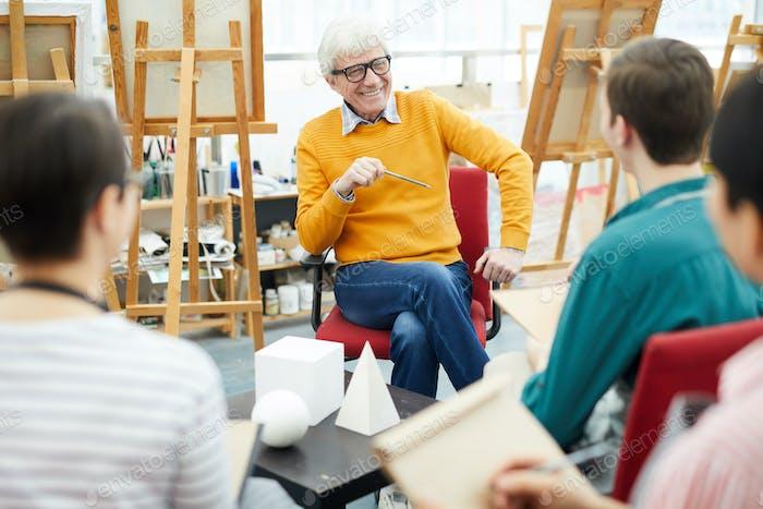 Senior Art Teacher at Work