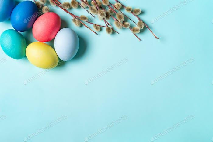 Bunte helle orthodoxe Ostern Konzept, Copyspace
