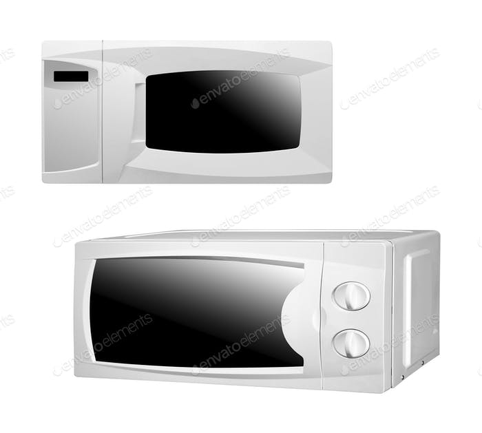 microwaves oven isolated
