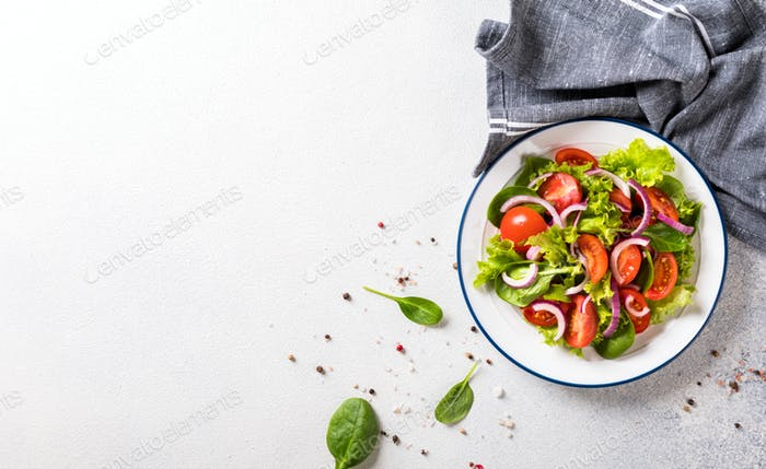Fresh vegetable salad. Vegetarian food.Concept for a tasty and healthy meal.T