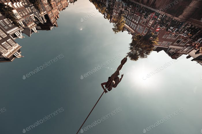 Tightrope walker, Amsterdam