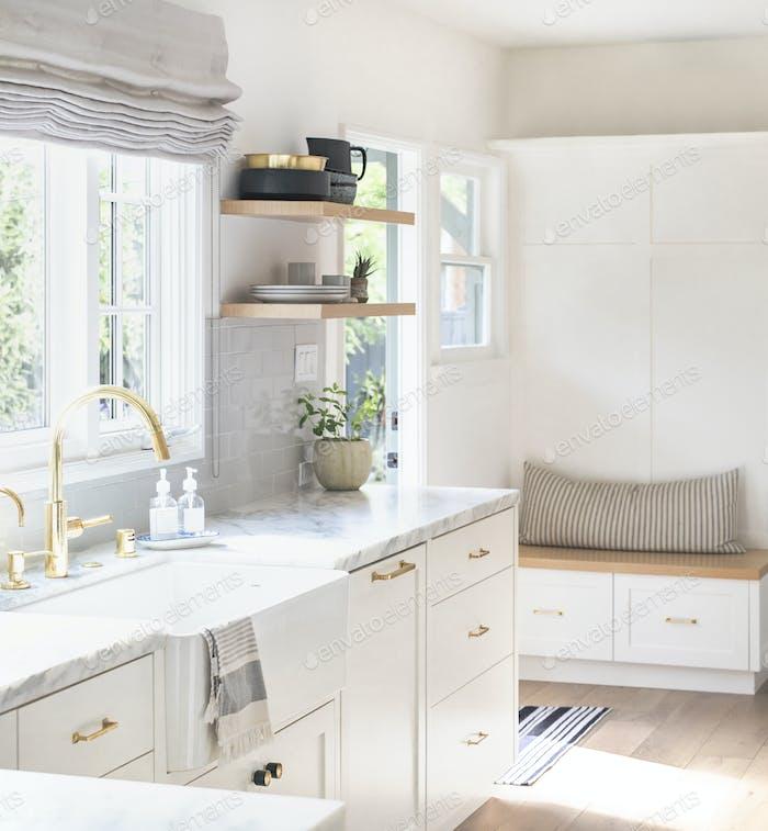 Clean home kitchen