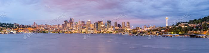 Seattle, Washington, USA skyline on Lake Union