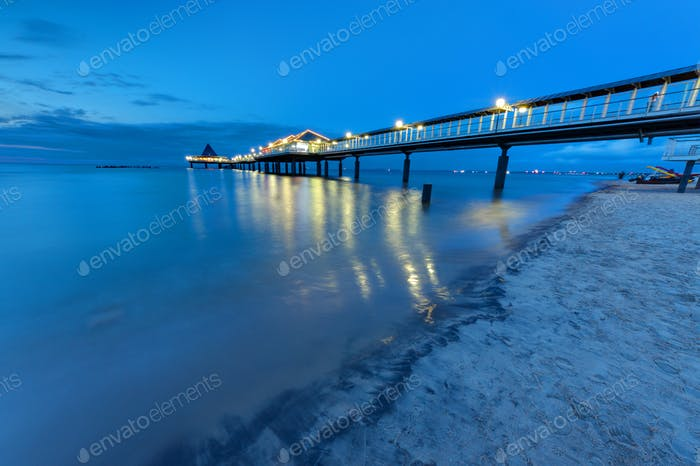 Pier at the Baltic Sea at dawn