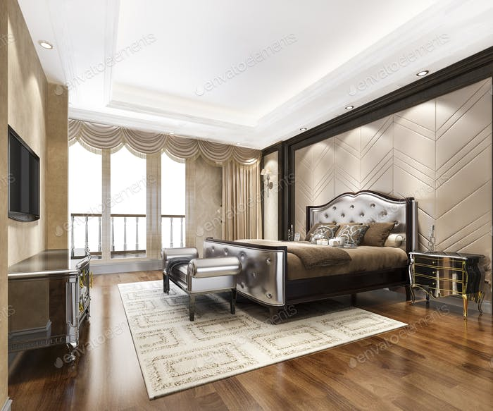 3d rendering modern dining room and living room with luxury chinese decor