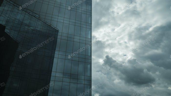 Skyscraper and overcast sky