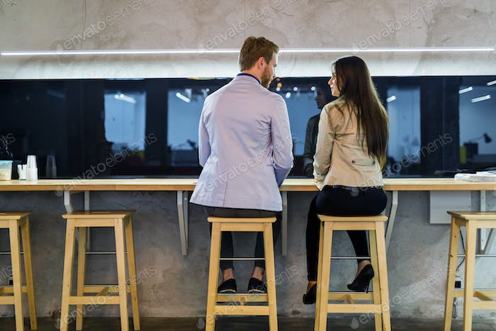Dating couple in a bar