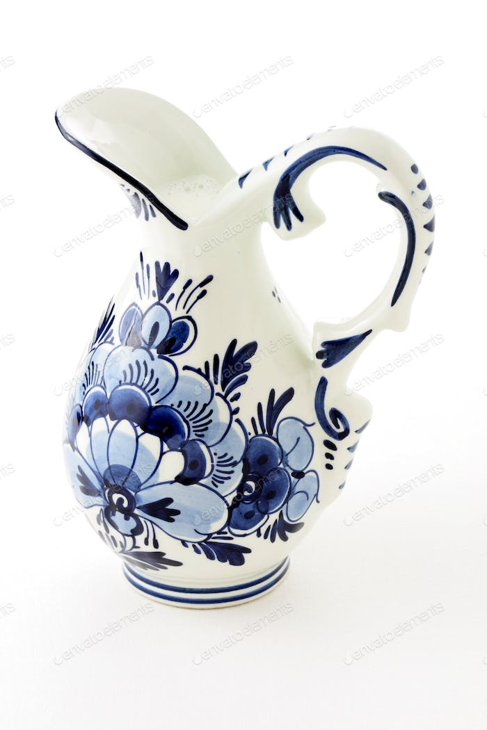 Antique blue delft milk jar