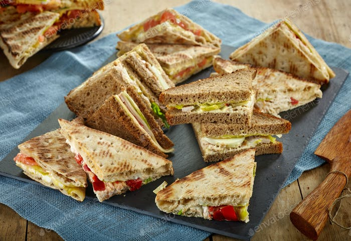 various triangle sandwiches