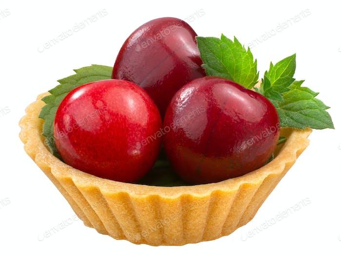 Cherry mint tart, paths